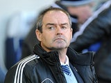 West Bromwich Albion head coach Steve Clarke during the match against Stoke City on December 1, 2012