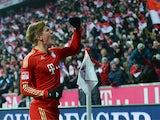 Bayern Munich's Toni Kroos celebrates after scoring his team's goal on December 1, 2012