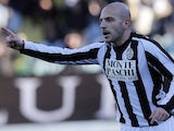 Siena's Alessandro Rosina celebrates his goal against Catania on December 9, 2012