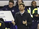 Tottenham Hotspur manager Andre Villas-Boas on the touchline on December 9, 2012