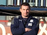 Dundee manager Barry Smith on the touchline during the match against rivals Dundee United on December 9, 2012