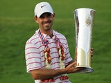 Charl Schwartzel with the trophy after winning the Thailand Golf Championships on December 9, 2012