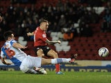 Cardiff's Craig Bellamy fires the ball in against Blackburn on December 7, 2012