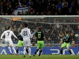 Real Madrid's Cristiano Ronaldo opens the scoring against Ajax on December 4, 2012