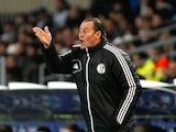 Schalke manager Huub Stevens on the touchline on December 4, 2012