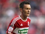 Middlesbrough's on-loan midfielder Josh McEachran on August 21, 2012