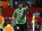 Cluj forward Luis Alberto celebrates against Man Utd on December 5, 2012