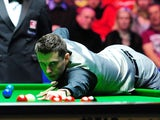 Mark Selby at the table during the UK Championship final on December 9, 2012