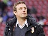 Augsburg head coach Markus Weinzierl on the touchline against Bayern Munich on December 8, 2012