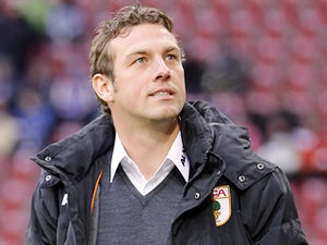 Augsburg head coach Markus Weinzierl on the touchline against Bayern Munich on December 8, 2012