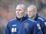 Blackpool boss Michael Appleton at Selhurst Park on December 8, 2012