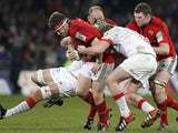 Munster's Mick Sherry tries to do a runner on December 8, 2012