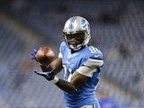 Detroit Lions' Ryan Broyles warms up on December 2, 2012