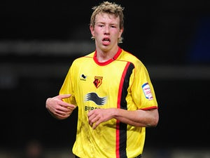 Watford's Adam Thompson on March 15, 2011