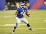Giants RB Ahmad Bradshaw in action against the Saints on December 9, 2012