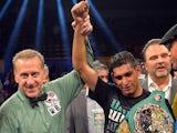 Amir Khan is announced as the winner of the WBC silver super lightweight title on December 15, 2012
