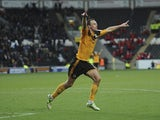 David Meyler of Hull celebrates his goal against Huddersfield on December 15, 2012