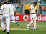 Australia's Ed Cowan walks after being dismissed for four against Sri Lanka on December 14, 2012