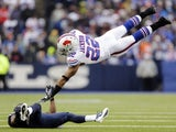 Buffalo Bills' Fred Jackson in the air against the Rams on December 11, 2012