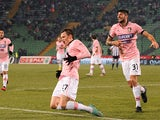 Palermo's Josip Ilicic celebrates after scoring against Udinese on December 15, 2012