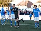 Ranger' Kevin Kyle celebrates moments after scoring his team's second goal on December 15, 2012