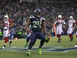 Marshawn Lynch of the Seattle Seahawks on December 9, 2012