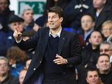 Swansea City manager Michael Laudrup on the touchline during the match against Tottenham Hotspur on December 16, 2012