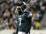 Eagles QB Michael Vick after a game with Dallas on November 11, 2012