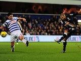 Fulham striker Mladen Petric pulls a goal back against QPR on December 15, 2012