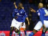 Birmingham City's Papa Bouba Diop celebrates scoring the equaliser on December 15, 2012