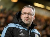 Aston Villa manager Paul Lambert on the touchline at Norwich on December 11, 2012