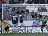 Hull's Robert Koren scores against Huddersfield on December 15, 2012
