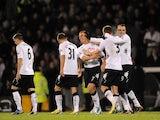 Steve Sidwell celebrates scoring Fulham's opener on December 10, 2012