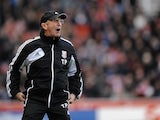 Stoke boss Tony Pulis on the touchline against Everton on December 15, 2012