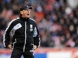 Stoke boss Tony Pulis on the touchline against Everton on December 15, 2012