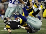Steelers QB is sacked by the Cowboys in their defeat on December 17, 2012