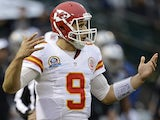Chiefs QB Brady Quinn in action against Oakland on December 18, 2012