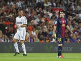 Ronaldo and Messi during the first leg of the 2012/13 Super Cup on August 23, 2012