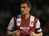 Cheltenham Town's Darren Carter on September 28, 2012