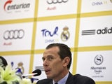Madrid director Emilio Butragueno gives a press conference on May 25, 2011