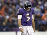 Baltimore Ravens quarterback Joe Flacco on December 16, 2012