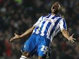 Brighton's Lua Lua celebrates his goal against Millwall on December 18, 2012