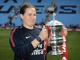 Arsenal Ladies' Laura Harvey after the FA Cup win over Bristol on May 21, 2011