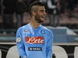 Lorenzo Insigne of Napoli celebrates a goal against Milan on November 17, 2012