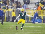 Packers Kicker Mason Crosby in action against Detroit on December 9, 2012