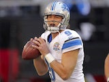 Lions QB Matt Stafford with the ball against the Cardinals on December 16, 2012