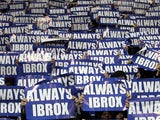 Rangers fans protest against the sale of Ibrox Stadium on December 18, 2012
