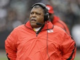 Chiefs coach Romeo Crennel on the sideline against the Raiders on December 16, 2012