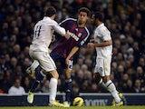 Gareth Bale goes at Stoke's Ryan Shotton on December 22, 2012