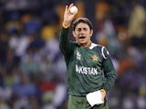 Pakistan bowler Saeed Ajmal in action against Sri Lanka on October 4, 2012